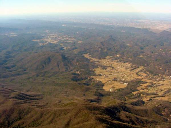 aerial view of Wears Valley looking towards Townsend