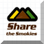 A button to Share the Smokies